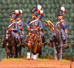 15mm, Napoleonic British 14th Light Dragoons (Tarleton) AB 12 figures